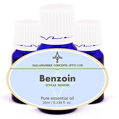 Benzoin essential oil can be used for bronchitis, coughs, colds, wounds, acne, eczema, psoriasis, rheumatism, arthritis, scar tissue, and circulation.