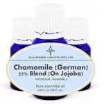 Chamomile German Essential Oil has a calming effect on the mind and body and is excellent in treating any type of inflammation