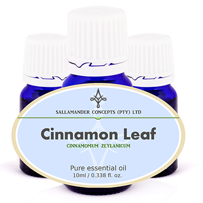 Cinnamon Leaf Essential Oil can be used for infection of the respiratory tract, rheumatism, arthritis, depression and general pains.