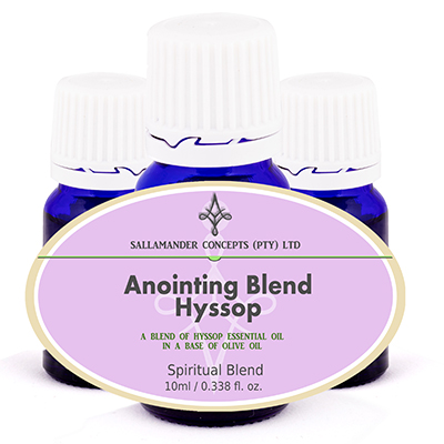 Hyssop Anointing Oil, Hyssop pure Essential Oil blended into Extra Virgin Olive Oil to cut the cost of the oil and for immediate use to adults.
