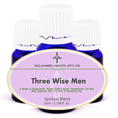 Three Wise Men Spiritual Oil - blended to mimic the ancient blend, promoting spiritual awareness, balancing of qi, and helping to treat trauma