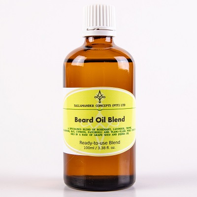 Beard Oil Blend, a blend of Jojoba and Grape seed oil with Rosemary, Bay, Cedarwood, Lavender, Thyme, Patchouli, Cypress and Ylang Ylang essential oils